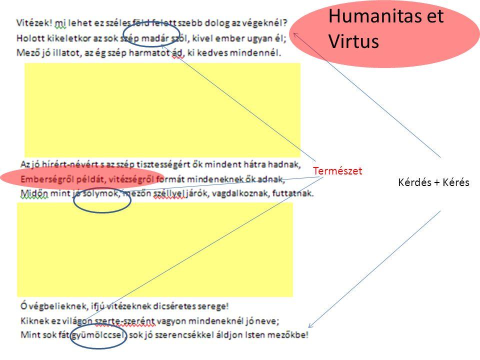 Kérdés + Kérés Természet Humanitas et Virtus