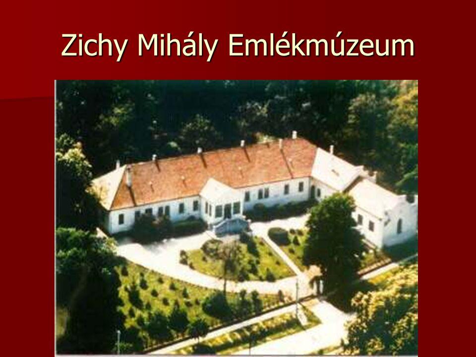 Múzeum A vidék egykori földbirtokosai a nemesi Zichyek, a Zalához közeli Zics községből települtek át a XIX.