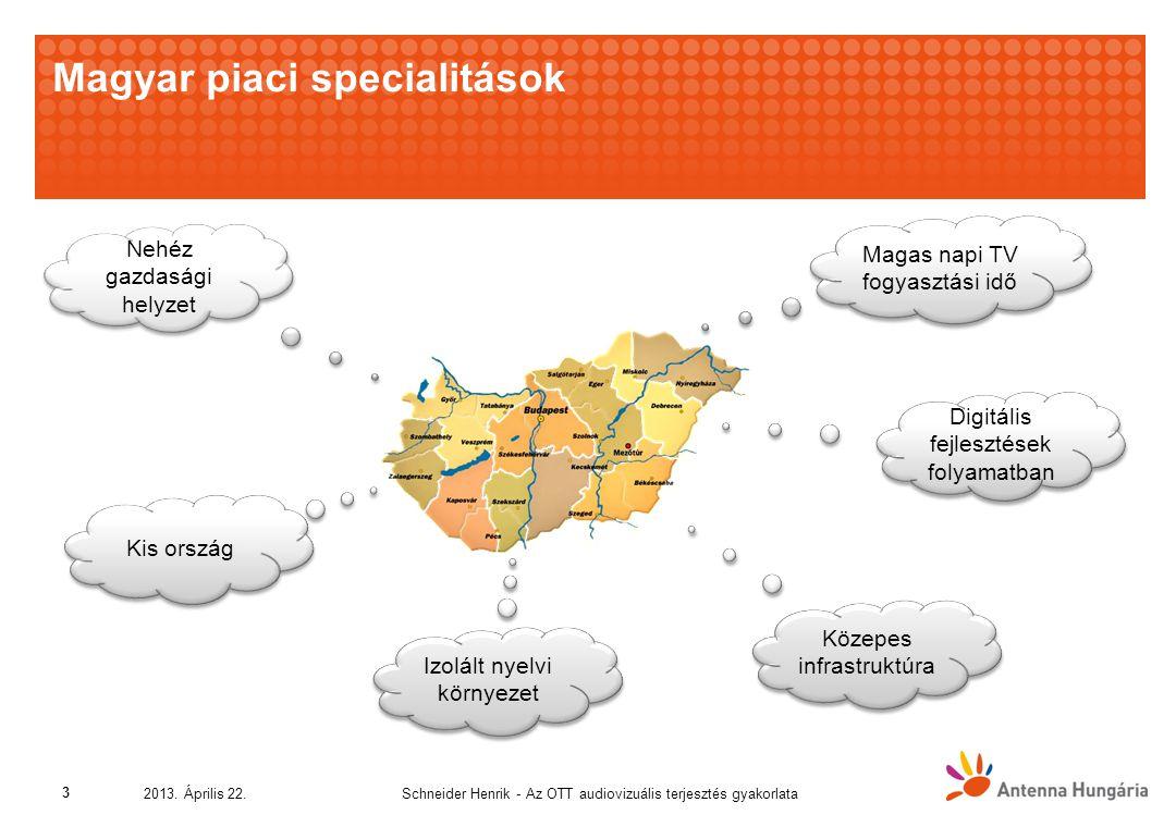 Magyar piaci specialitások Schneider Henrik - Az OTT audiovizuális terjesztés gyakorlata2013.