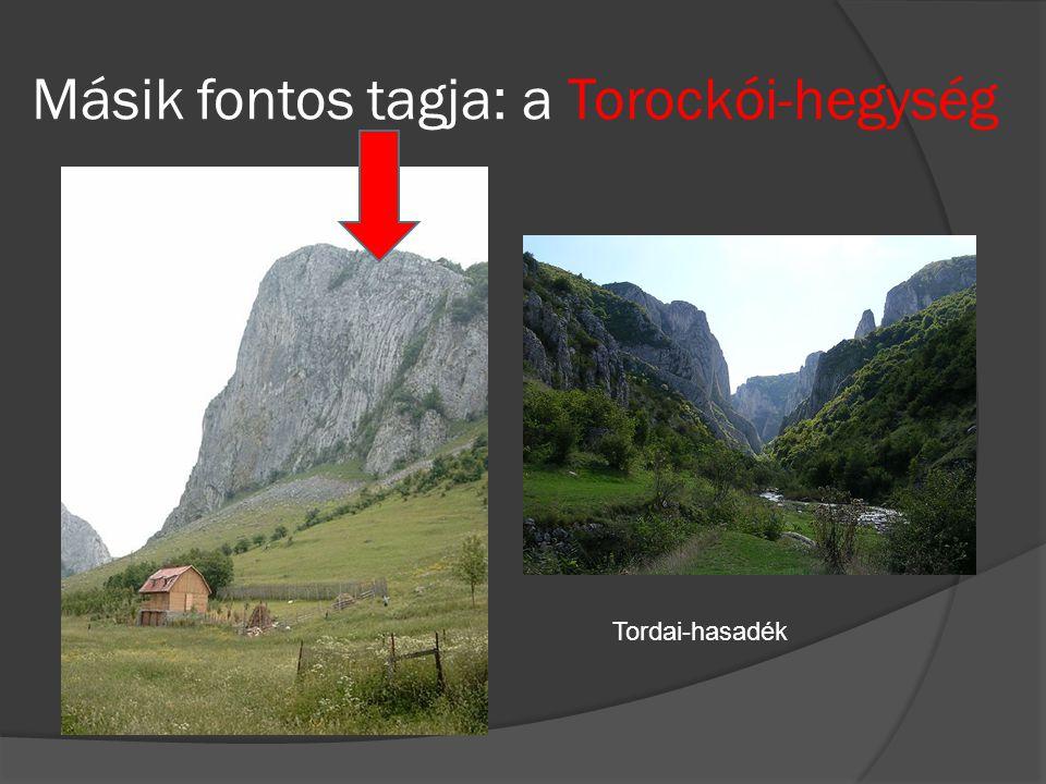 Másik fontos tagja: a Torockói-hegység Tordai-hasadék
