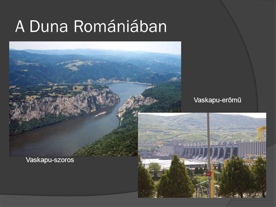 A Duna Romániában Vaskapu-erőmű Vaskapu-szoros