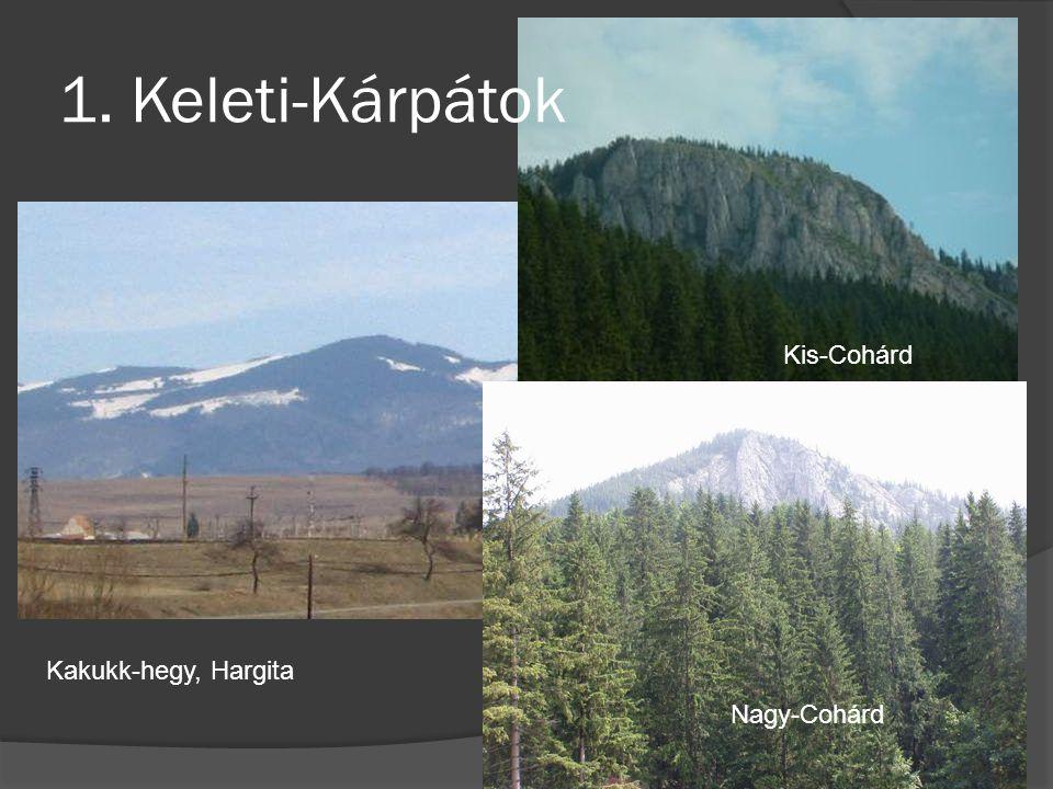 1. Keleti-Kárpátok Kakukk-hegy, Hargita Nagy-Cohárd Kis-Cohárd