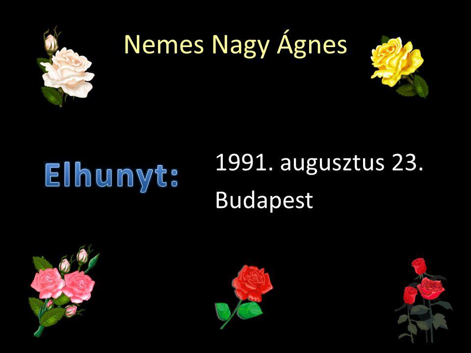 Nemes Nagy Ágnes 1991. augusztus 23. Budapest