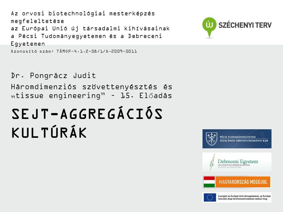SEJT-AGGREGÁCIÓS KULTÚRÁK Az orvosi biotechnológiai mesterképzés megfeleltetése az Európai Unió új társadalmi kihívásainak a Pécsi Tudományegyetemen é