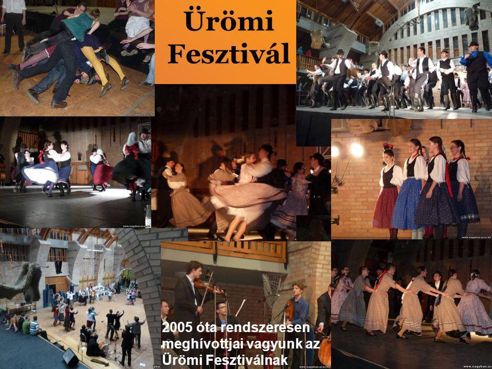 Ürömi Fesztivál 2005 óta rendszeresen meghívottjai vagyunk az Ürömi Fesztiválnak