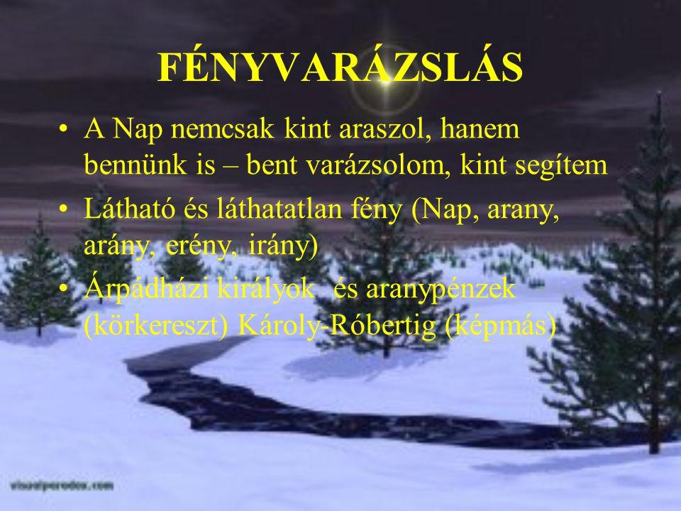 A fehér ló megszüli aranycsikaját karácsony éjen Kerecseny sólyom (fényhozó madár) – a mi szentlélek-madarunk a turul utóda Sólyom (üdvösség), salom, szálem, Hiero-sólyom - Jerusalem