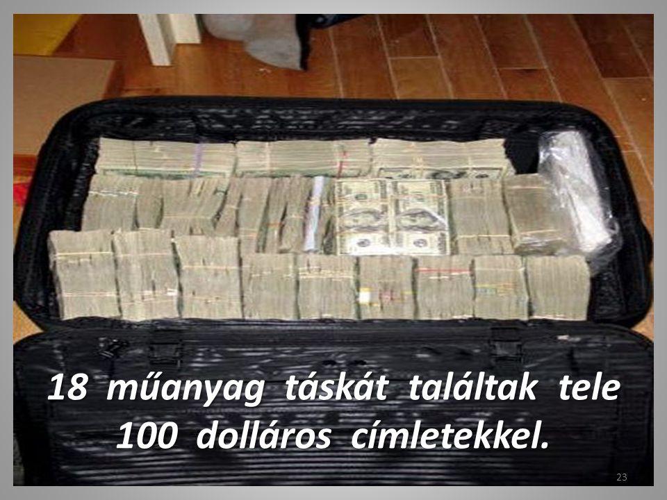 Ez a táska tele van 100 dolláros bankjegyekkel, kb. fél millió összegben. 22