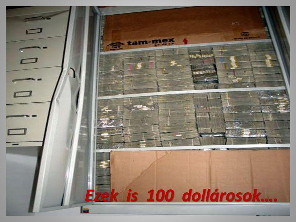 Másik szekrény 100 dolláros címletekkel. 24