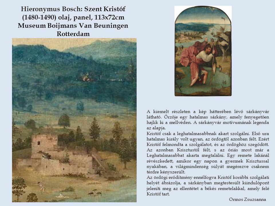 A képen Bosch egy fösvény életének utolsó pillanatait mutatja meg, amikor eldől a sorsa mindörökre.
