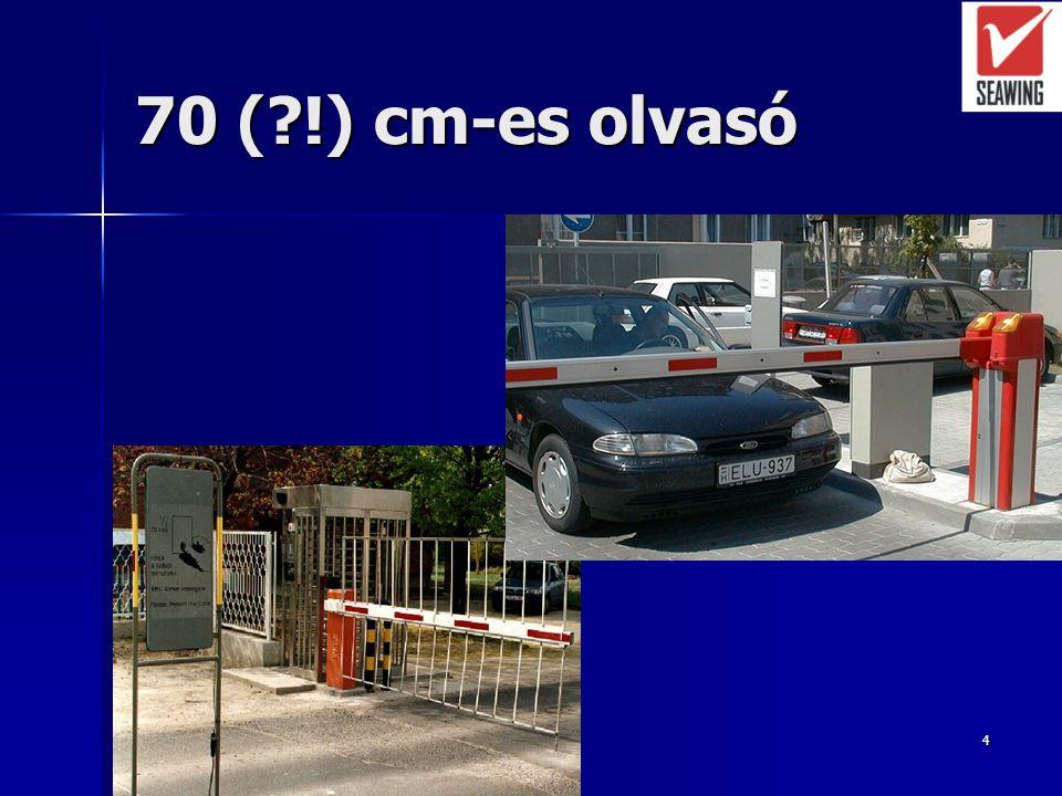 3 Járművezető azonosítása Proximity kártyák (személykártyák?) Proximity kártyák (személykártyák?) –Olvasási távolság: 10 cm 10 cm 0,5 m (proximity kár