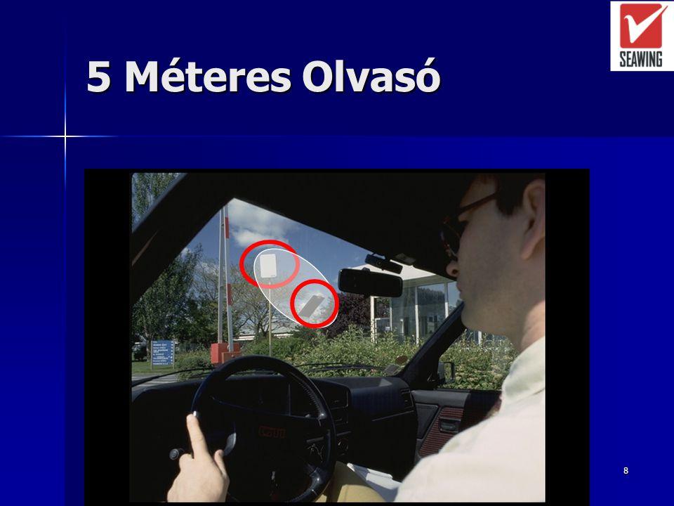 7 Járműhöz rendelt azonosító Nagytávolságú (>2m) RFID azonosítók Nagytávolságú (>2m) RFID azonosítók –Szemipasszív –Passzív Leggyakoribb eszközök: UHF