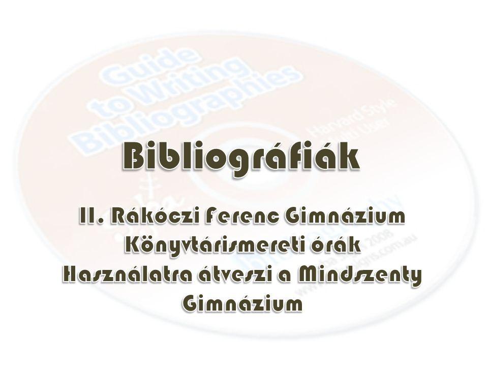 A tájékoztató eszközök egyik nagy típusát alkotják a szakirodalmat vagy annak egy részét számbavevő eszközök: a bibliográfiák és a bibliográfiai adatbázisok.bibliográfiák Görög eredetű szó (bibliosz= könyv, grapheion=leírás, magyar fordítása: könyvészet.