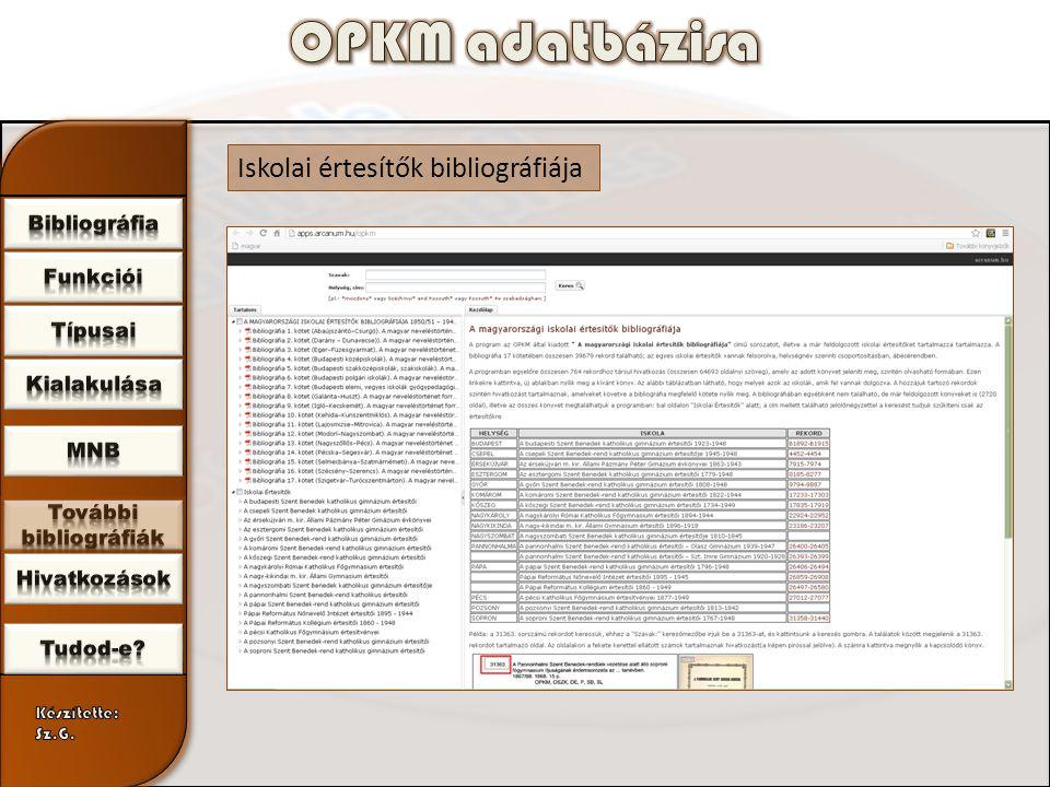 Iskolai értesítők bibliográfiája