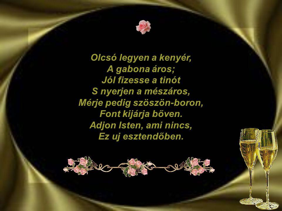 Áldott, békés újévet kívánok sok szerencsével, egészséggel. www.gittamin.gportal.hu