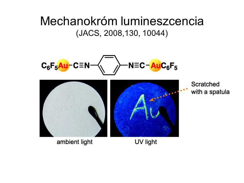 Mechanokróm lumineszcencia (JACS, 2008,130, 10044)