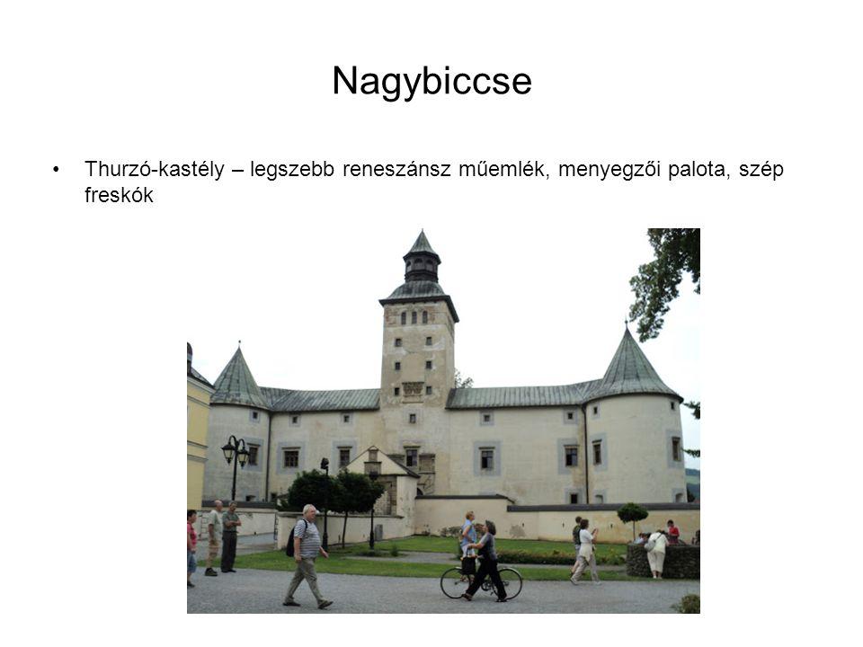 Nagybiccse Thurzó-kastély – legszebb reneszánsz műemlék, menyegzői palota, szép freskók