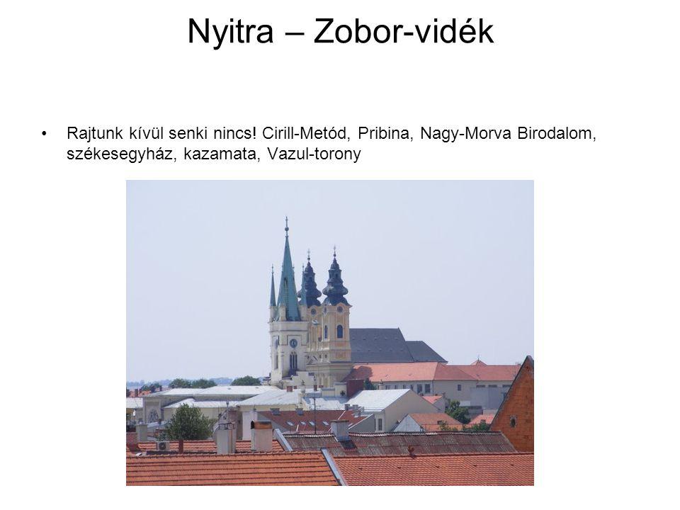 Nyitra – Zobor-vidék Rajtunk kívül senki nincs! Cirill-Metód, Pribina, Nagy-Morva Birodalom, székesegyház, kazamata, Vazul-torony