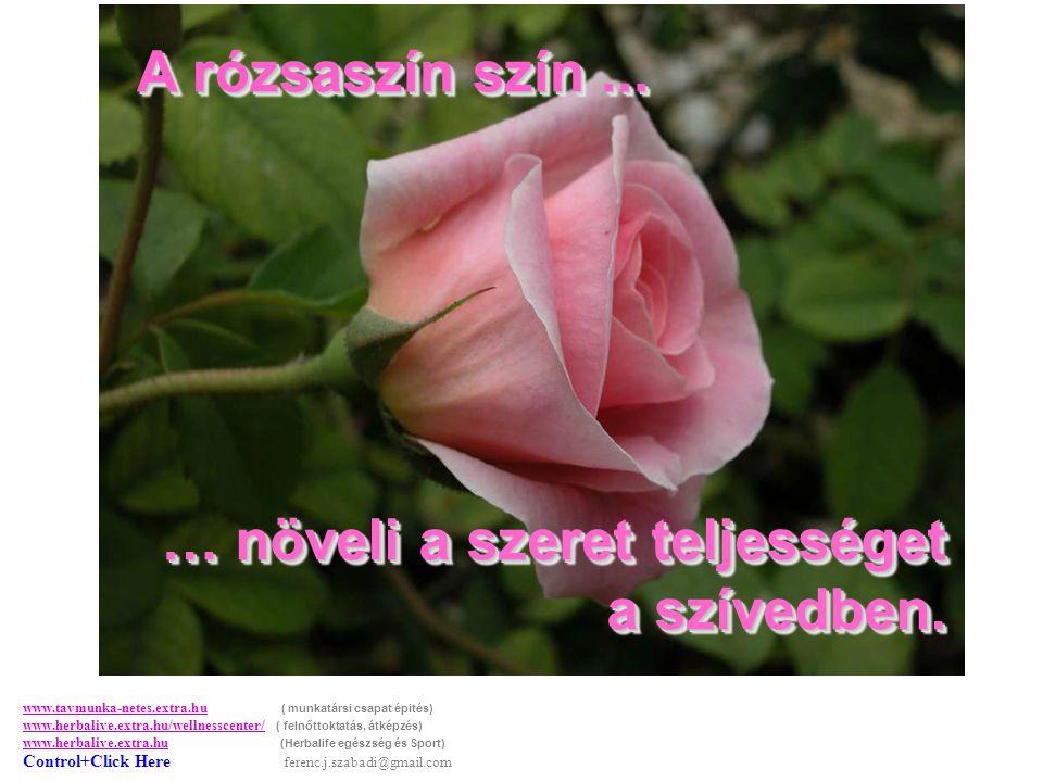 A rózsaszín szín...A rózsaszín szín... … növeli a szeret teljességet a szívedben.