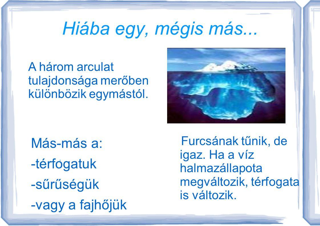 """A varázserejű víz A víz az egyetlen olyan kémiai anyag, amely 3 halmazállapotban van jelen a Földön. A """"láthatatlan"""" formája a gőz. A folyékonyé a víz"""