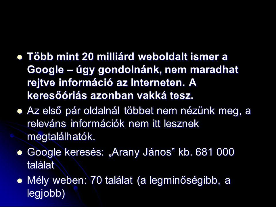 Több mint 20 milliárd weboldalt ismer a Google – úgy gondolnánk, nem maradhat rejtve információ az Interneten. A keresőóriás azonban vakká tesz. Több