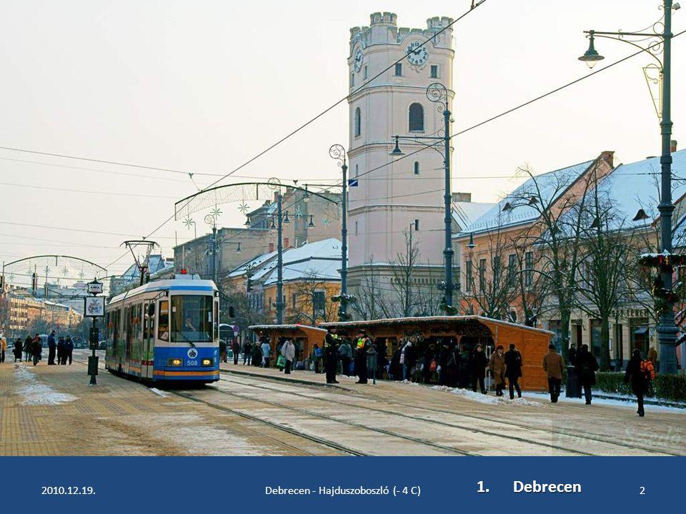 Egy kis séta, hidegben, Debrecenben és Hajdúszoboszlón Fényképezte: Szedő Iván