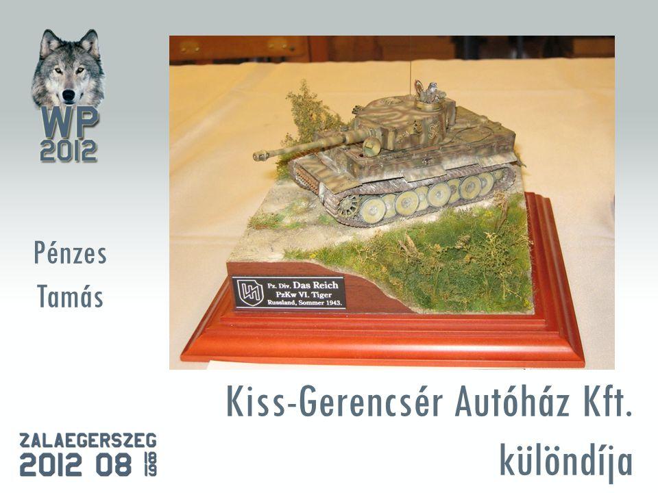 Kiss-Gerencsér Autóház Kft. különdíja Pénzes Tamás