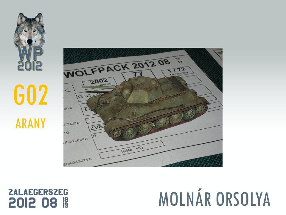 MOLNÁR ORSOLYA G02 ARANY