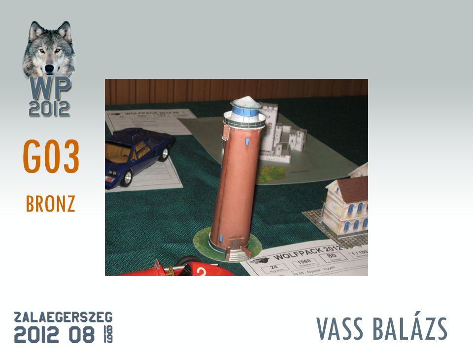 VASS BALÁZS G03 BRONZ