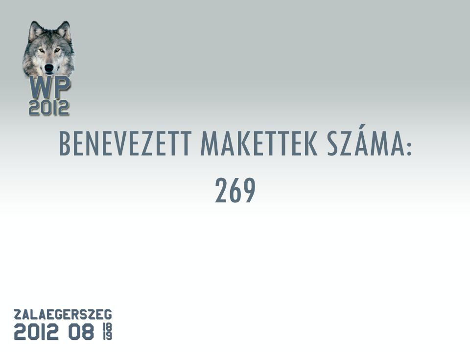 BENEVEZETT MAKETTEK SZÁMA: 269