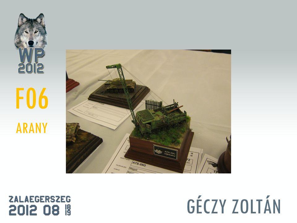GÉCZY ZOLTÁN F06 ARANY