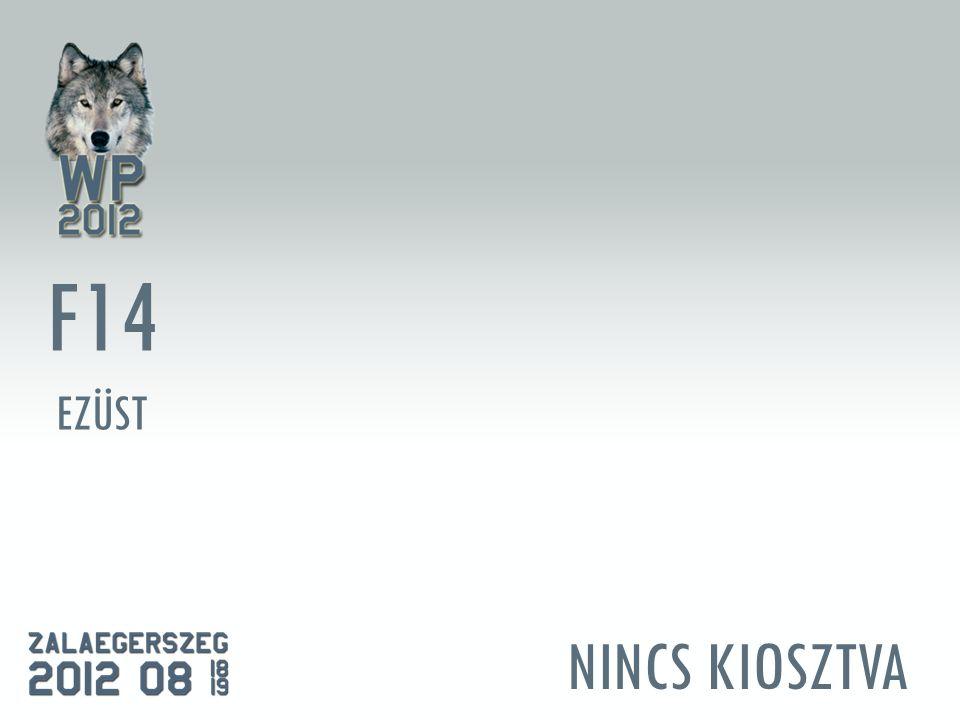 NINCS KIOSZTVA F14 EZÜST