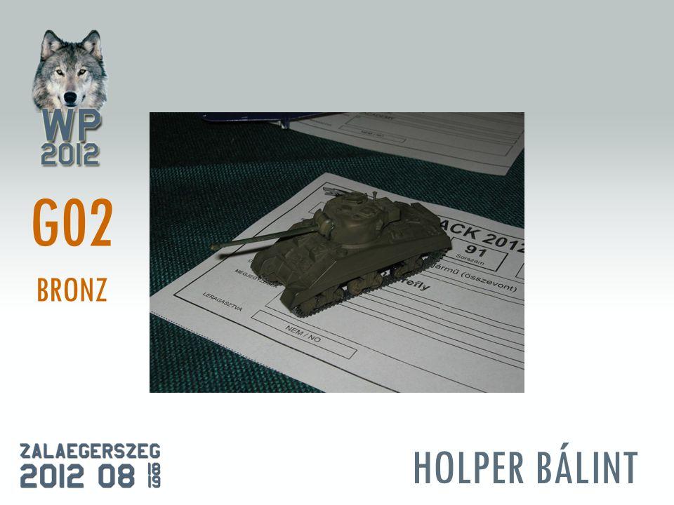 HOLPER BÁLINT G02 BRONZ