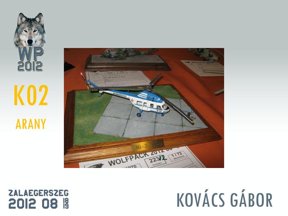 KOVÁCS GÁBOR K02 ARANY