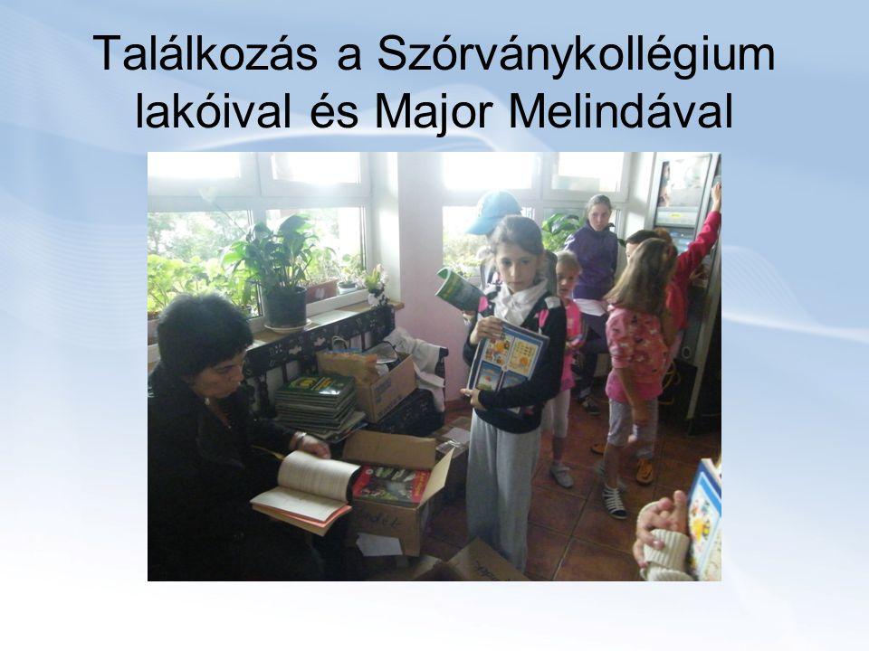 Találkozás a Szórványkollégium lakóival és Major Melindával