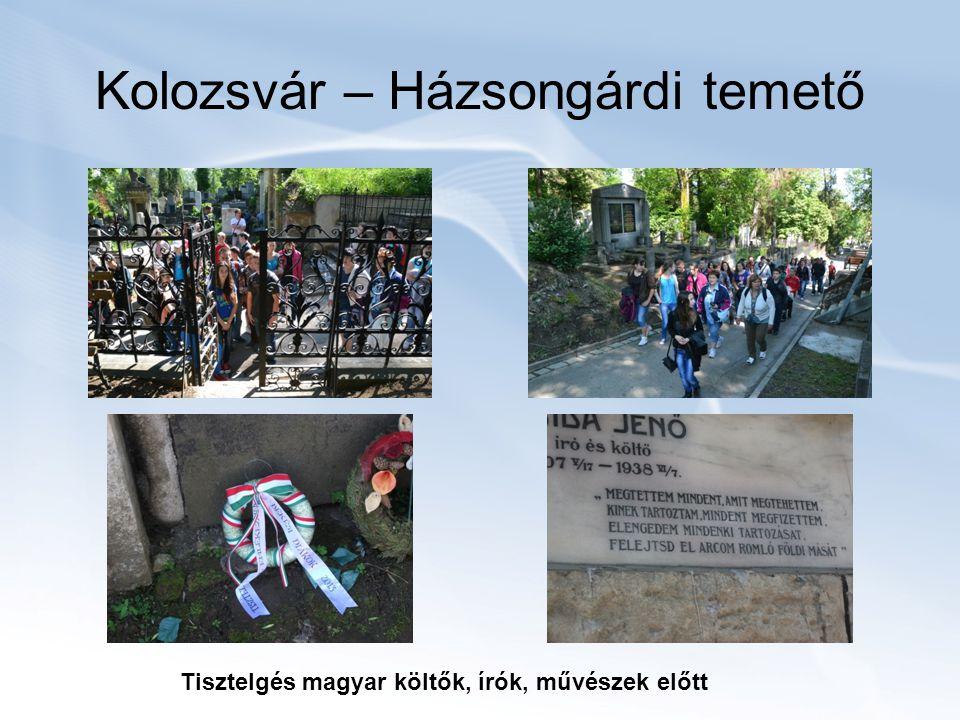 Kolozsvár – Házsongárdi temető Tisztelgés magyar költők, írók, művészek előtt