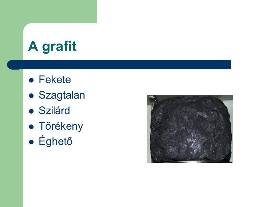 A grafit Fekete Szagtalan Szilárd Törékeny Éghető