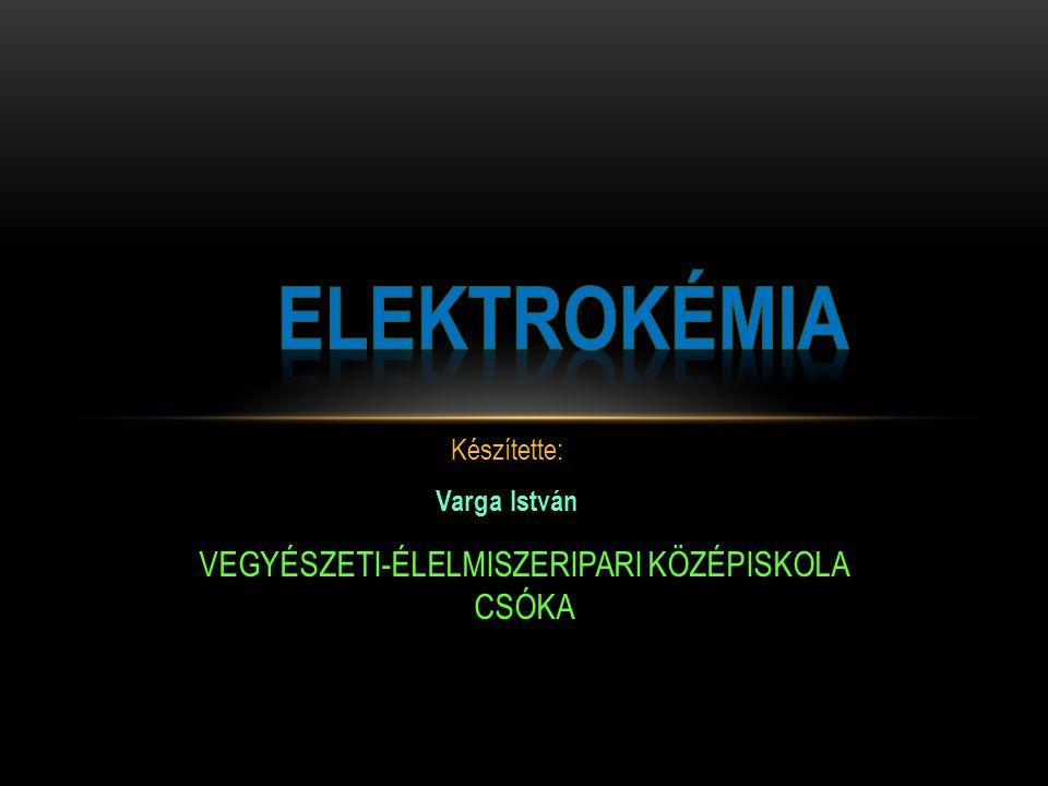  Az elektrokémia a fizikai kémia egyik ága, amely az elektrolitokban fellépő áramvezetés sajátságait, az elektromos áram hatására lejátszódó, illetve az elektromos áramot termelő kémiai folyamatokat vizsgálja.