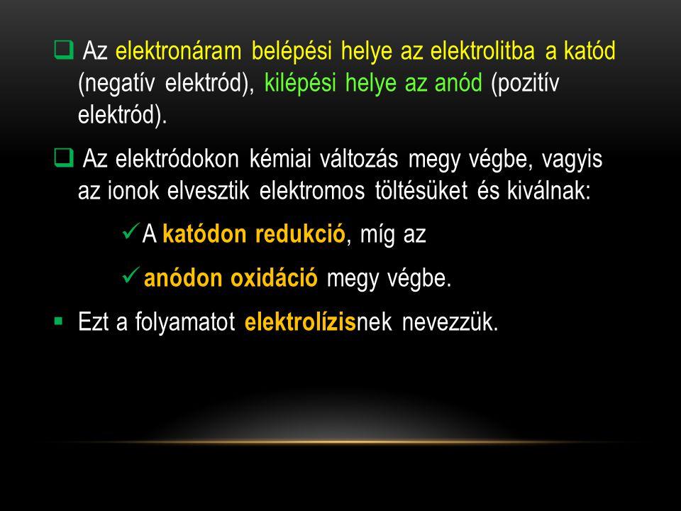  A bomlásfeszültség az a feszültségérték, amely egy anyag folyamatos elektrolíziséhez szükséges.
