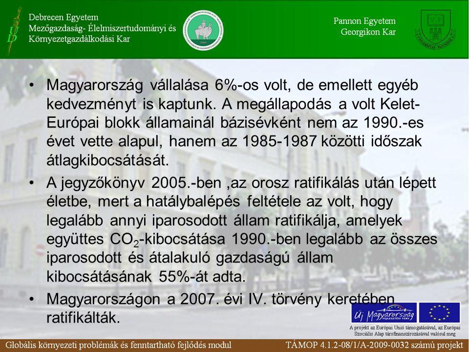Magyarország vállalása 6%-os volt, de emellett egyéb kedvezményt is kaptunk.