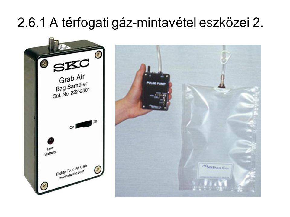 2.6.1 A térfogati gáz-mintavétel eszközei 2.