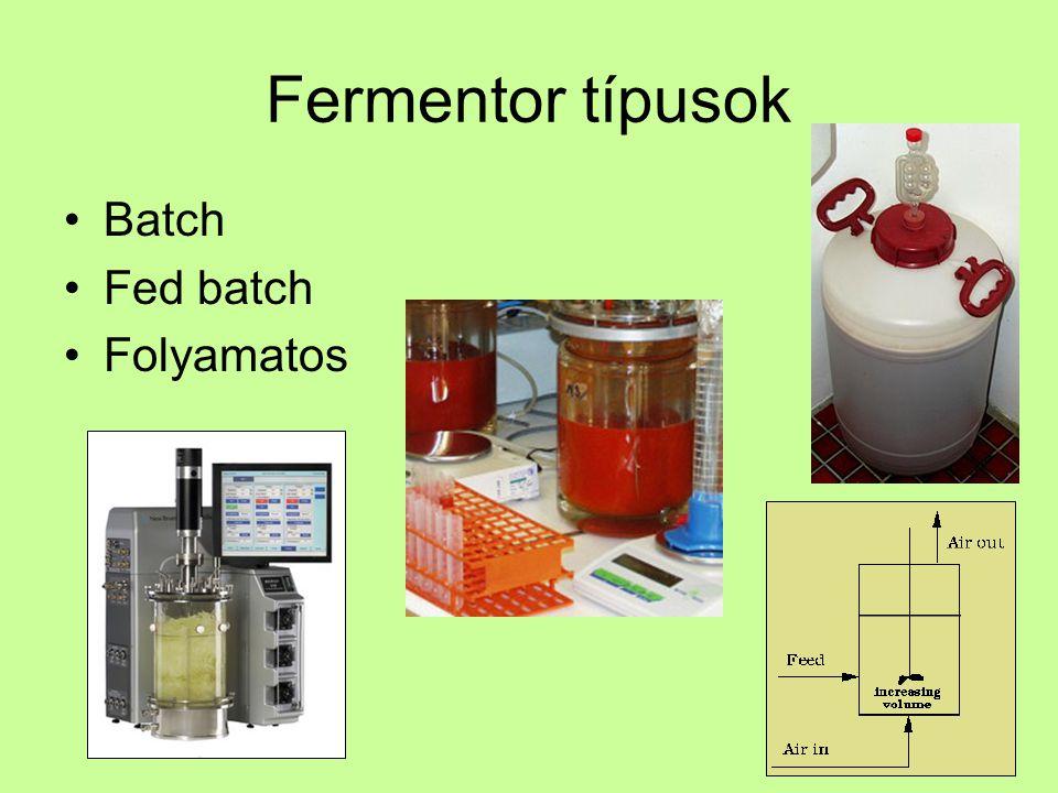Biomassza növekedése Számlálás –Mikroszkóp –Lemezelés (CFU) –Coulter számláló