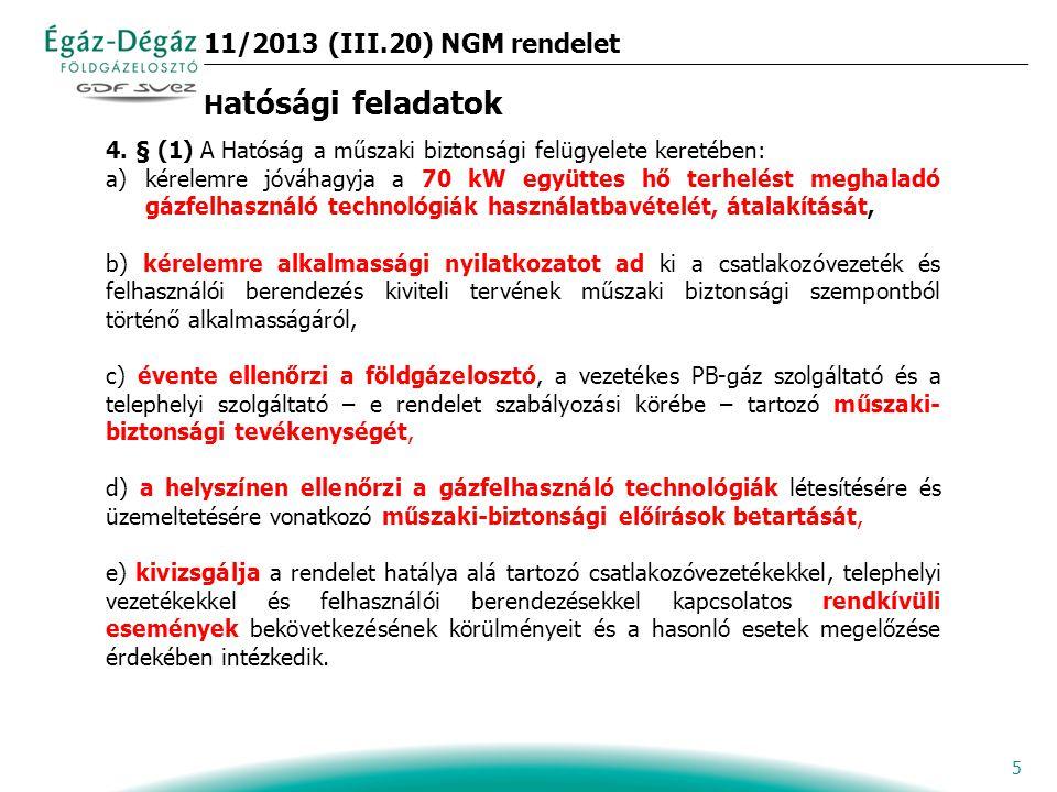 5 11/2013 (III.20) NGM rendelet H atósági feladatok 4.