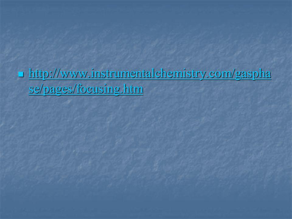 http://www.instrumentalchemistry.com/gaspha se/pages/focusing.htm http://www.instrumentalchemistry.com/gaspha se/pages/focusing.htm http://www.instrum