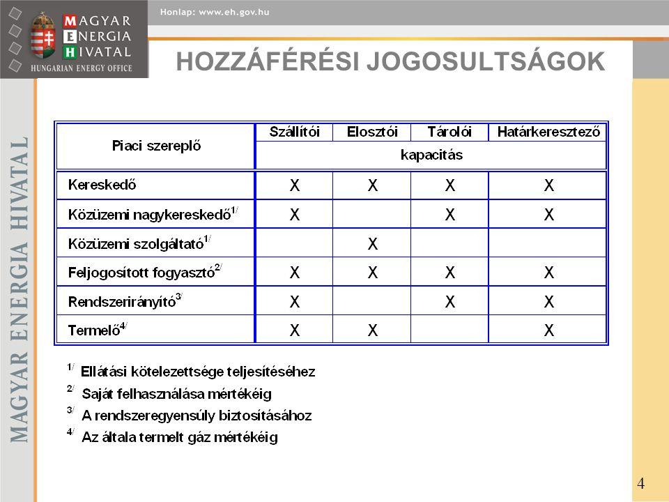 HOZZÁFÉRÉSI JOGOSULTSÁGOK 4