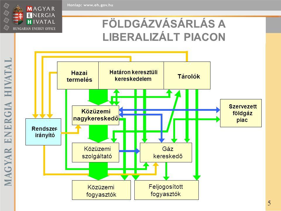 FÖLDGÁZVÁSÁRLÁS A LIBERALIZÁLT PIACON 5