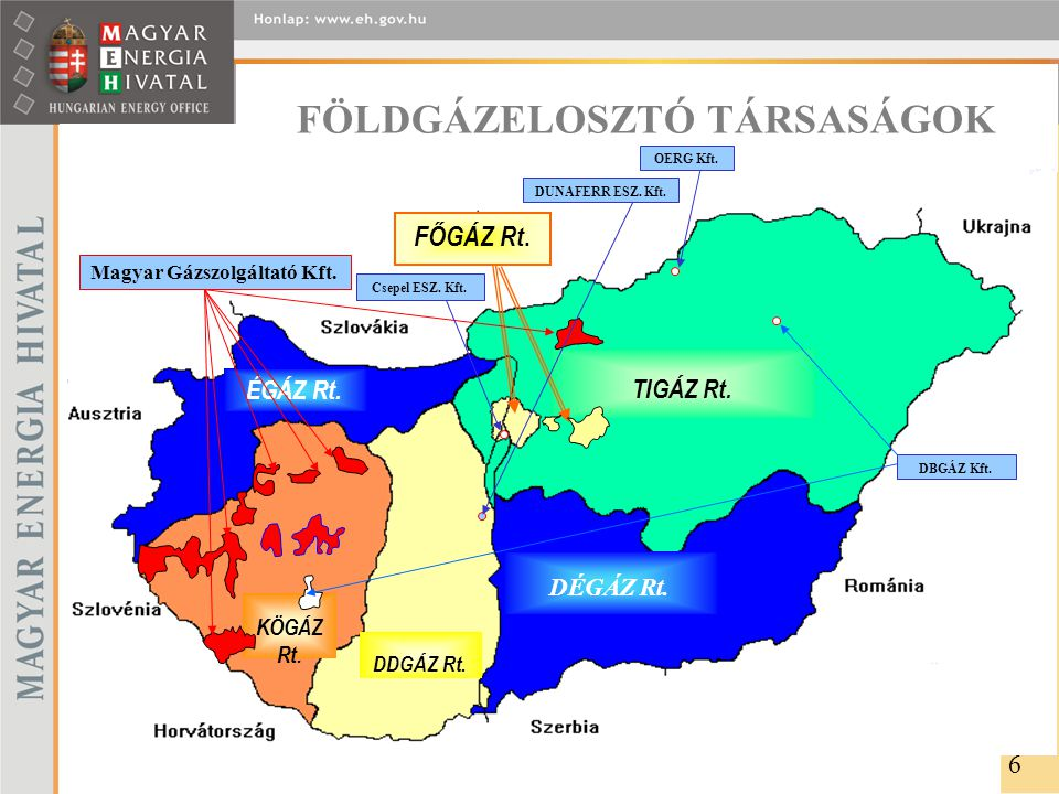 PIACI MŰKÖDÉS A GÁZIPARBAN 2004.dec. 2005. dec. 2006.