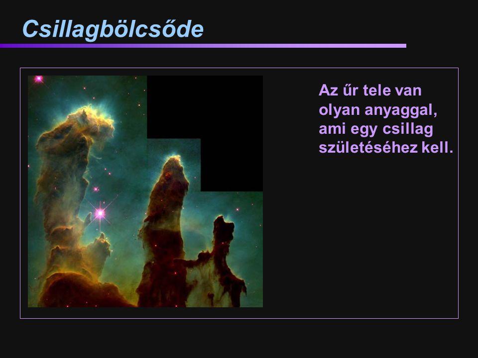 Csillagbölcsőde Az űr tele van olyan anyaggal, ami egy csillag születéséhez kell.