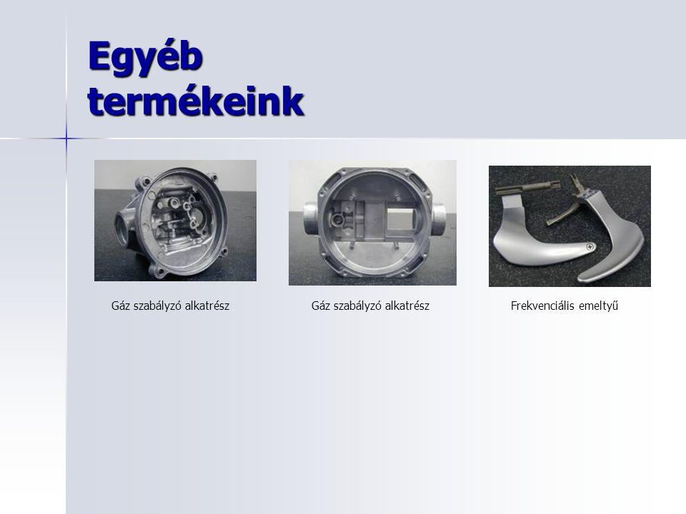 Egyéb termékeink Gáz szabályzó alkatrészFrekvenciális emeltyűGáz szabályzó alkatrész