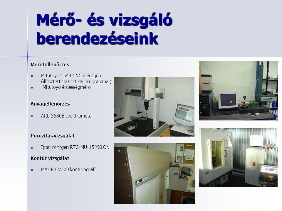 Mérő- és vizsgáló berendezéseink Méretellenőrzés Mitutoyo C544 CNC mérőgép Mitutoyo C544 CNC mérőgép (illesztett statisztikai programmal), Mitutoyo ér