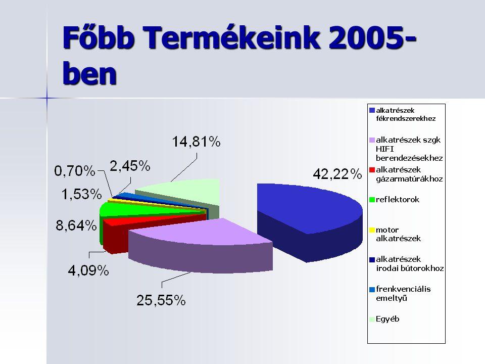 Főbb Termékeink 2005- ben